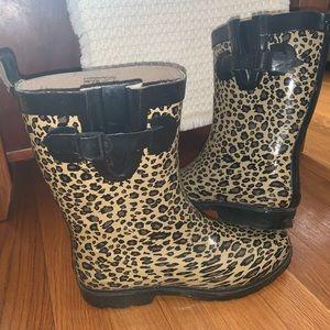 Cheetah Print Rain Boots